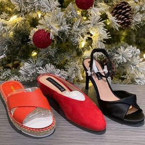 Bundle of 3 NWT pair of women's shoes